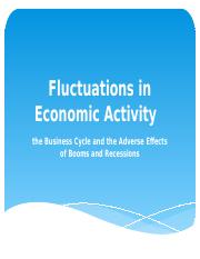 3. Fluctuations in Economic Activity