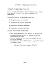 Ch9 - Receivable Financing