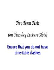 Test dates reminder