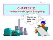 11 The Basics of Capital Budgeting