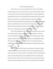 sample profile essay