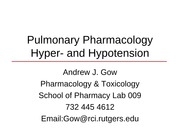 Pulmonary Pharmacology Gow