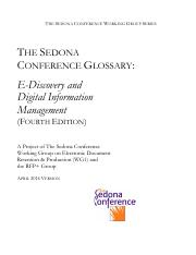 The Sedona Conference Glossary E-Discovery & Digital Information Management_4th Ed-July 2014