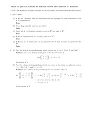 AfterMidterm2-PracticeProblems-Solutions