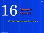 CHAPTER 14 SUPPLEMENTARY SLIDES CAPITAL BUDGETING