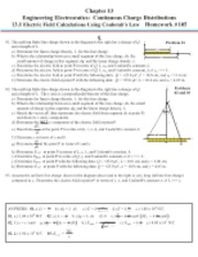 Chapter 13-Engineering Electrostatics-Continuous Charge Distributions