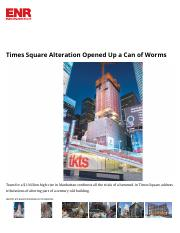 Times Square Alteration Opened Up a Can of Worms _ 2017-01-24 _ ENR.pdf