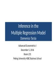 Eight_Lecture_December_5_2016_Inference_In_The_Multiple_Regression_Analysis_Inference_Econ.pptx