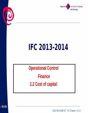 2013-2014 ABS FC OC Fin.  nr.  2.2 Cost of capital