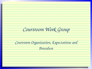 Lecture 27-Courtroom Work Group