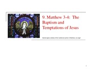 9 The Baptism and Temptation of Jesus