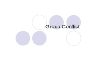 CMN 101 Lecture 5 Group Conflict