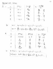 Worksheet 8 Solutions