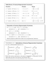 calculus  1 sheets
