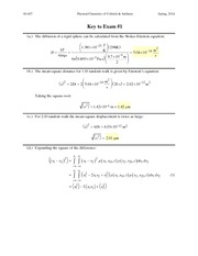 Exam 1 Questions and Solutions