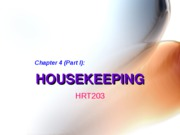 Chapter 4. Housekeeping (Part One) - BB