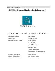 Experiment4 Acidic Reactions of Ethanoic Acid by Lau Ka Hin