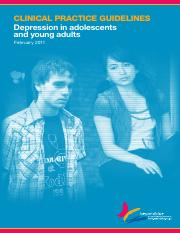 Clinical Practice Guidelines - Depression in adolescents and young adults.pdf