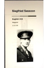 Author Presentation: Siegfried Sassoon