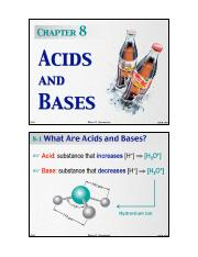 Chapter 8 - Acids and Bases
