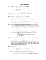 Homework Solutions on Mathematical Equation