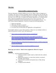 Chemical Food Additives assignment.doc