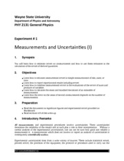 #1-Measurements & Uncertainties I 2131