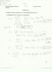 Problem Set 5 - Electron Configurations in a Tetrahedral Field