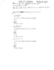 Practice Midterm with solutions