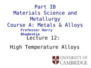 high temp alloys net