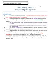 Knudson – Bio 102 Lab – Lab 7 Answer Form.doc