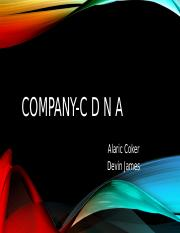 Company-C D N A (1) added work.pptx