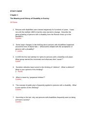 Chapter 1 Study Guide Disability