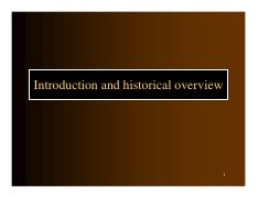 Introduction and historical overview (2016)