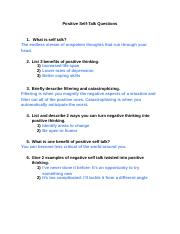 Mayo Clinic Self Talk Article Questions - Trinity Gilbert.docx