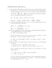 Math200Dec2009Solutions