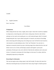 Portfolio Cover Letter To English Committee From Jason Jones