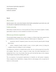 Law of business organisation assignment 2