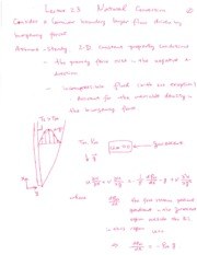 Lecture 23 Free Convection