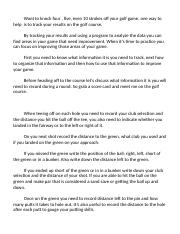 Golf Speech