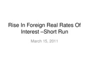 11-03-15-Rise in Foreign Interest Rates-Short Run