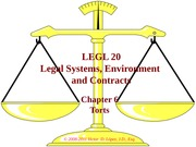 LGL 20 - Ch 06 - Elements of Torts