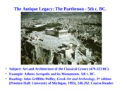 01 The Antique Legacy_ The Parthenon.FADIS