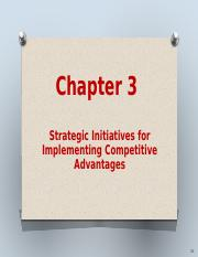 Ch 3 Strategic initiatives for competitive advantages(1)