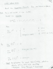 INFINITE SERIES CLASS NOTES