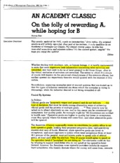 5 - Kerr, S. (1995) - On the folly of rewarding A, while hoping for B (8p)