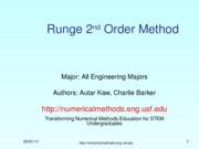 Runge-Kutta 2nd Order Method