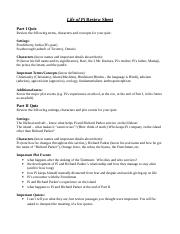 Life of Pi review sheet