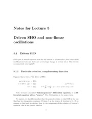 Lecture05-Driven-SHO-Non-Linear-Systems