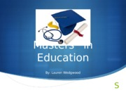 masters in education1